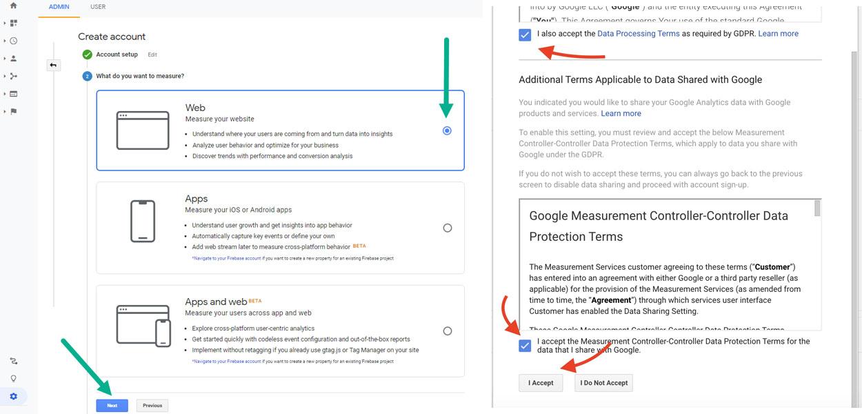 آموزش ساخت اکانت در سایت گوگل آنالیتیکس