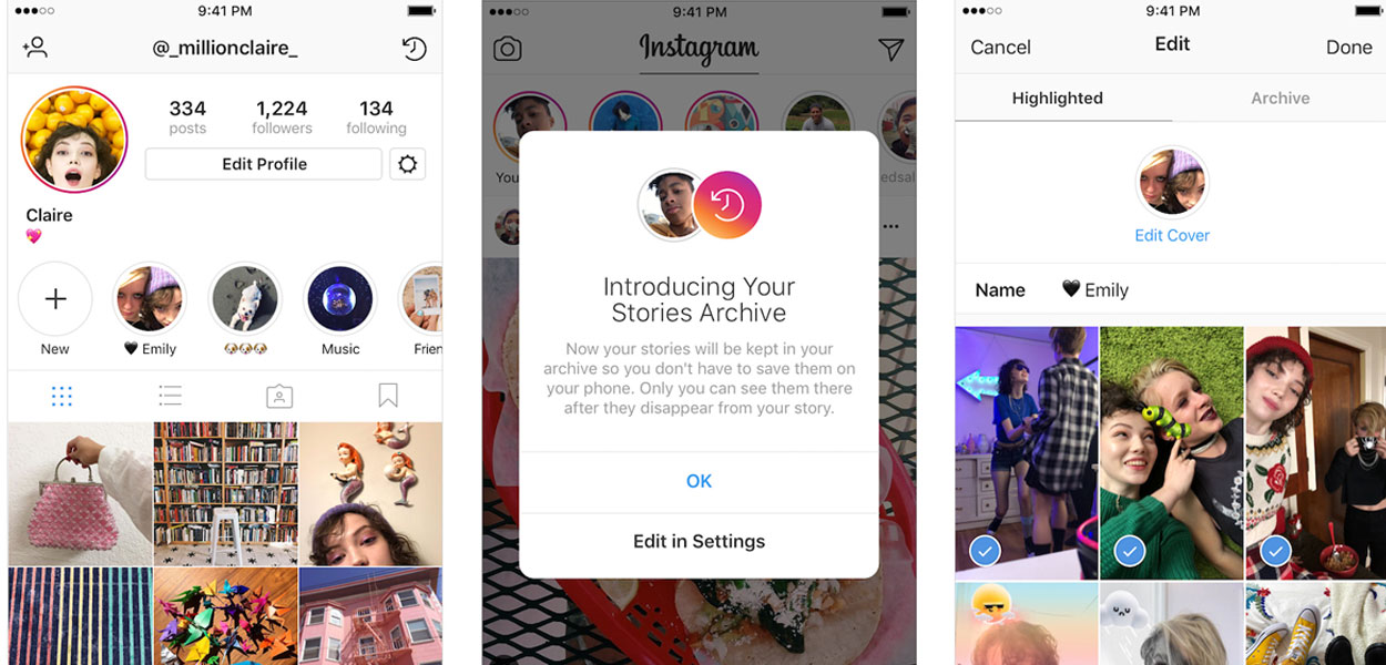 activate instagram story highlight 8